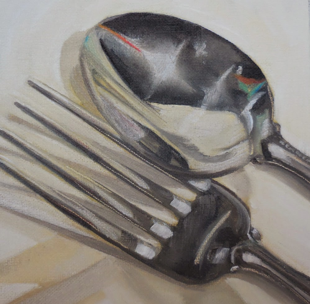 """Fork n Spoon"" original fine art by Beth Moreau"