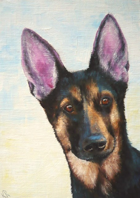 """Do My Ears Look Big in This?"" original fine art by Karen Robinson"