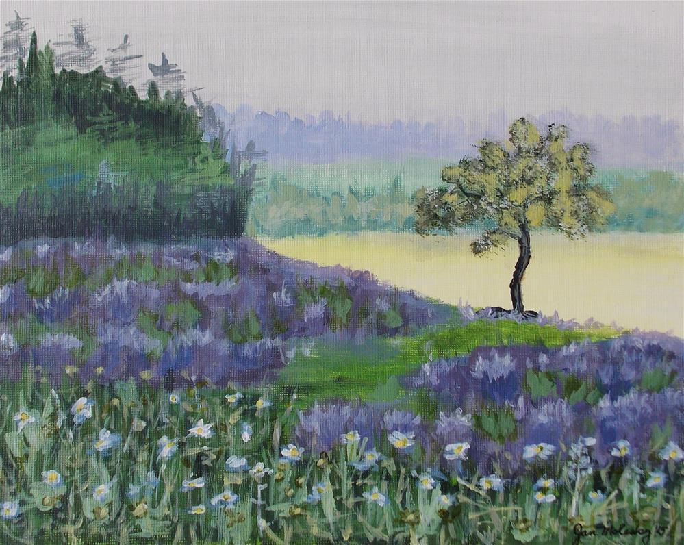 """""""Lavender Fields"""" original fine art by Jan Molesky"""