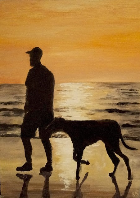 """Evening Walk"" original fine art by Karen Robinson"