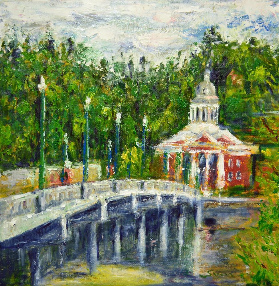 """Blanahassett Island in Marshall"" original fine art by Sun Sohovich"