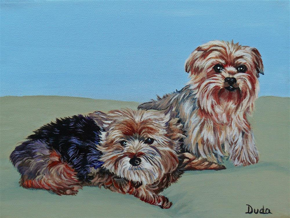 """Sweet Babies"" original fine art by Susan Duda"