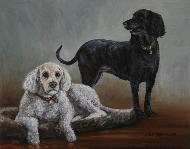 """""""Pet Portrait"""" original fine art by Sue Deutscher"""