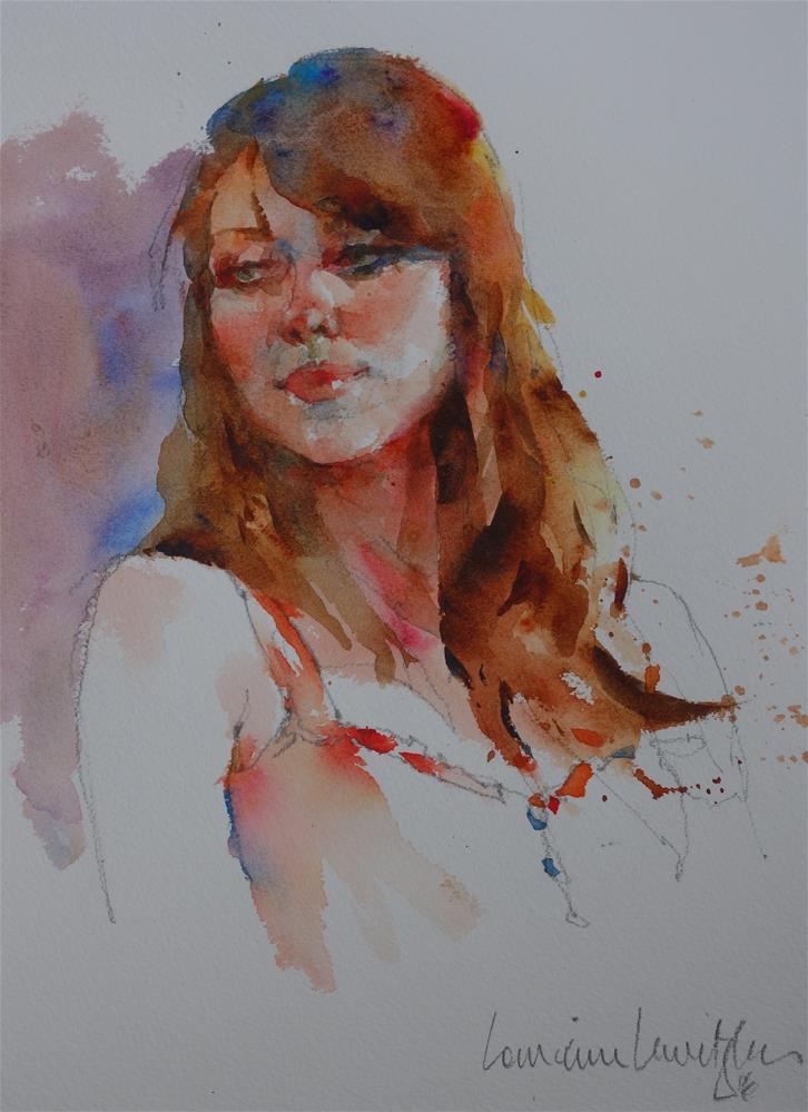 """Portrait #5 Glamourous"" original fine art by Lorraine Lewitzka"