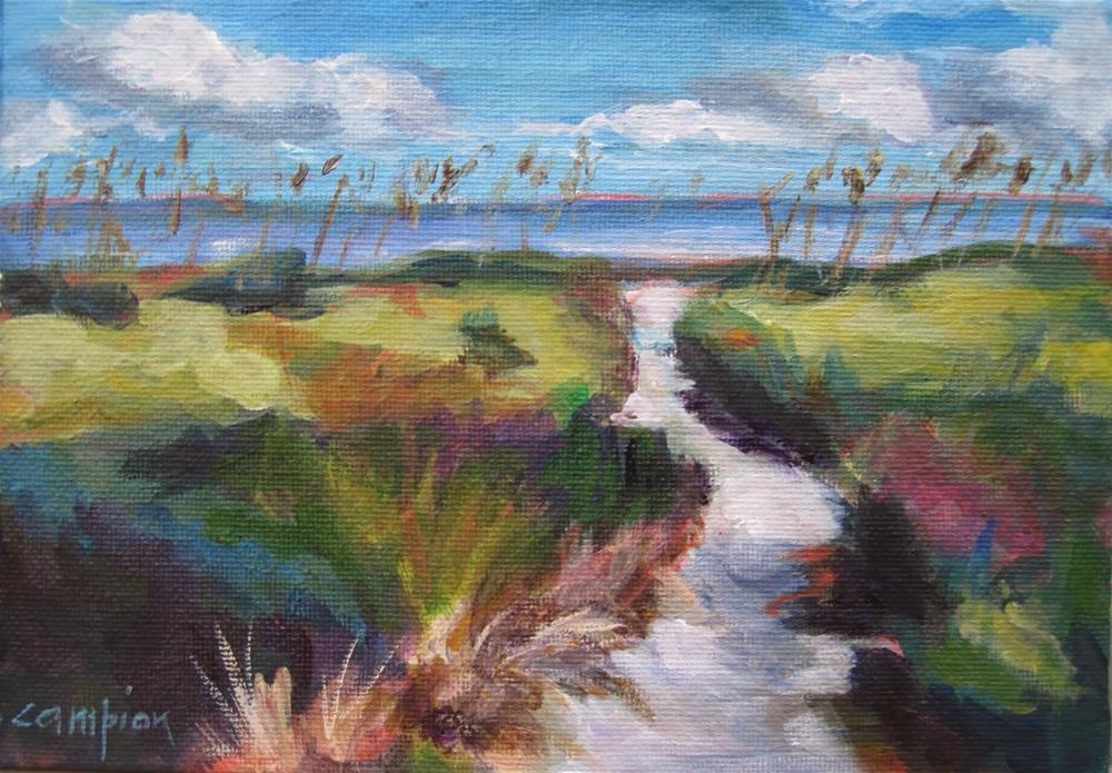 """199 Path to the Sea"" original fine art by Diane Campion"