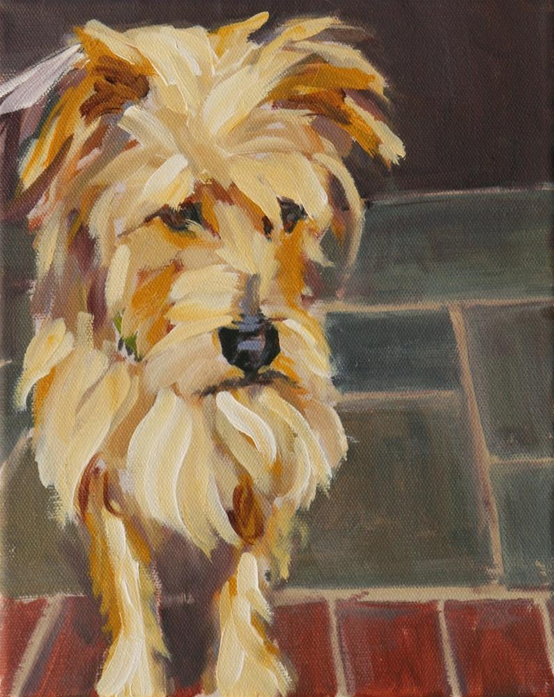"""trapper"" original fine art by Carol Carmichael"