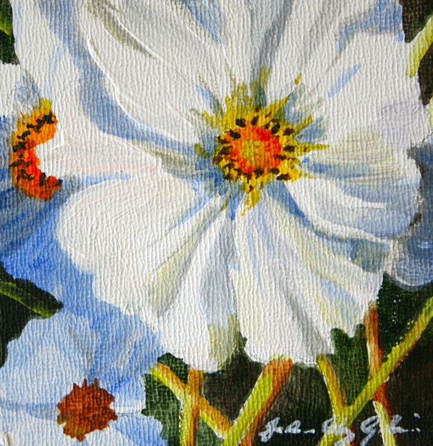 """Winter Flower"" original fine art by JoAnne Perez Robinson"
