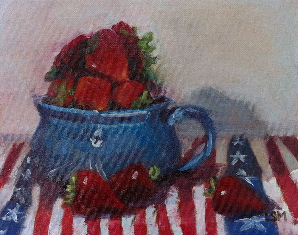 """Piled High on the 4th of July"" original fine art by Linda Marino"