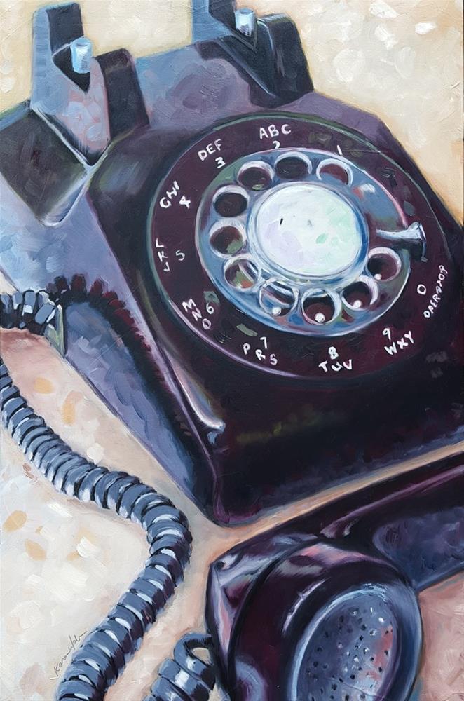 """""""Rotary Dial"""" original fine art by Karen Weber"""