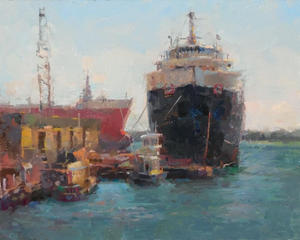 """Toronto Harbour Laker"" original fine art by Michael Pieczonka"