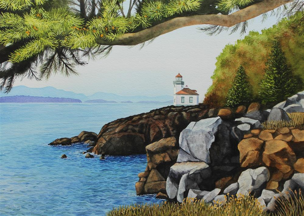 """Lime Kiln Light"" original fine art by Heidi Rose"