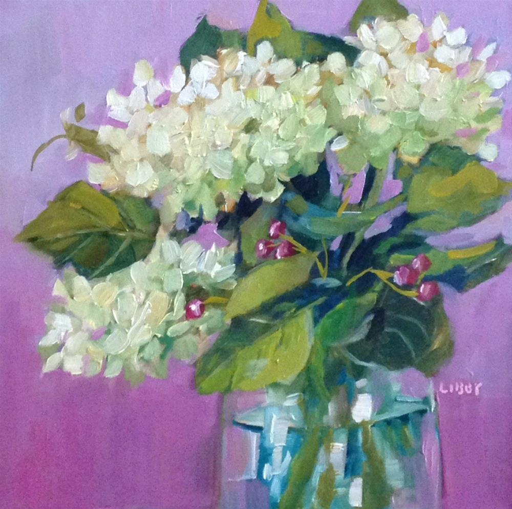 """Violet Love"" original fine art by Libby Anderson"
