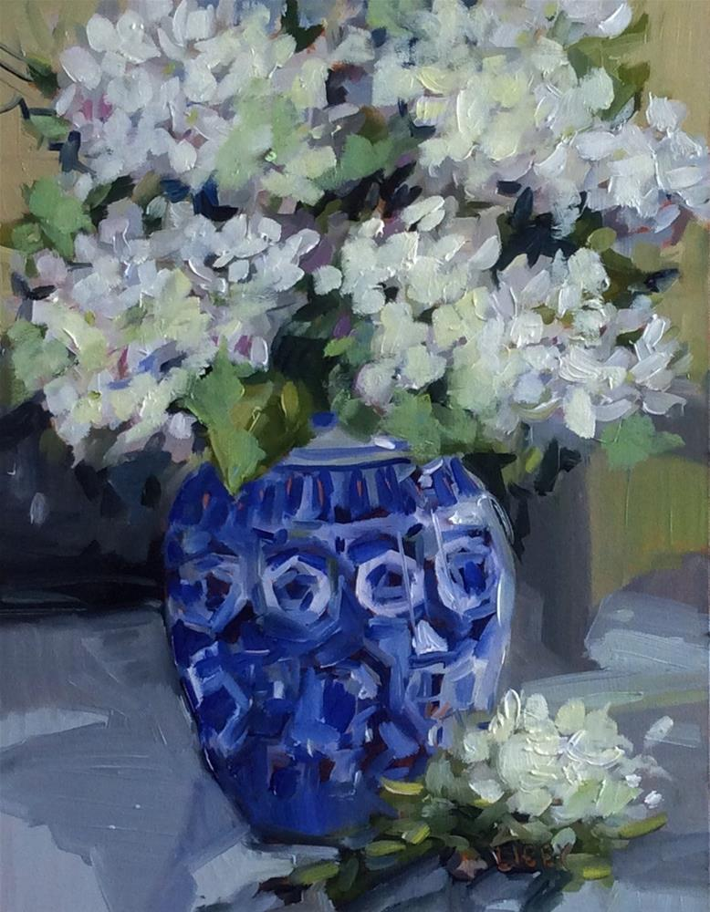 """Blue Chip"" original fine art by Libby Anderson"