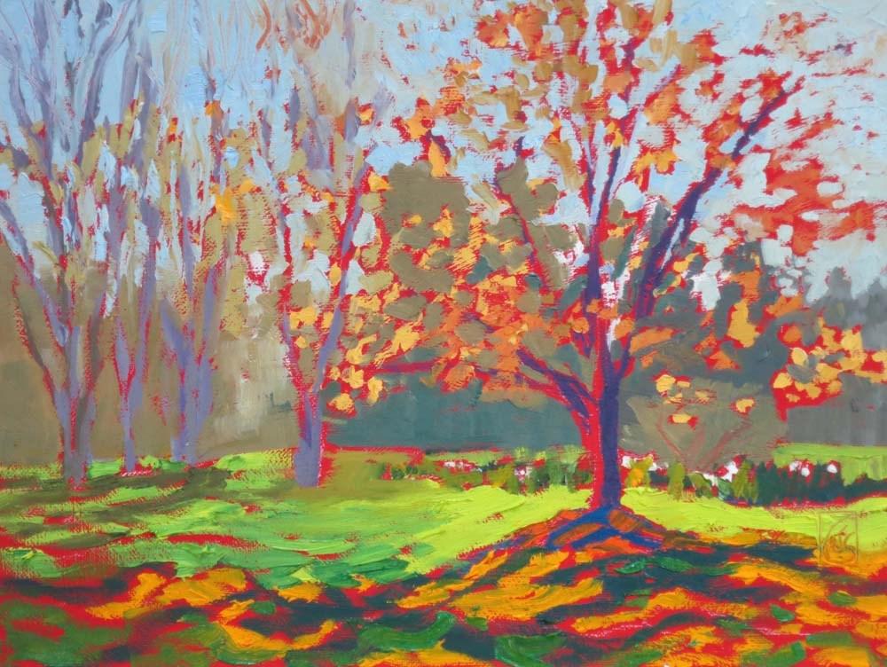 """Spring at Sandhill"" original fine art by Lucinda Howe"