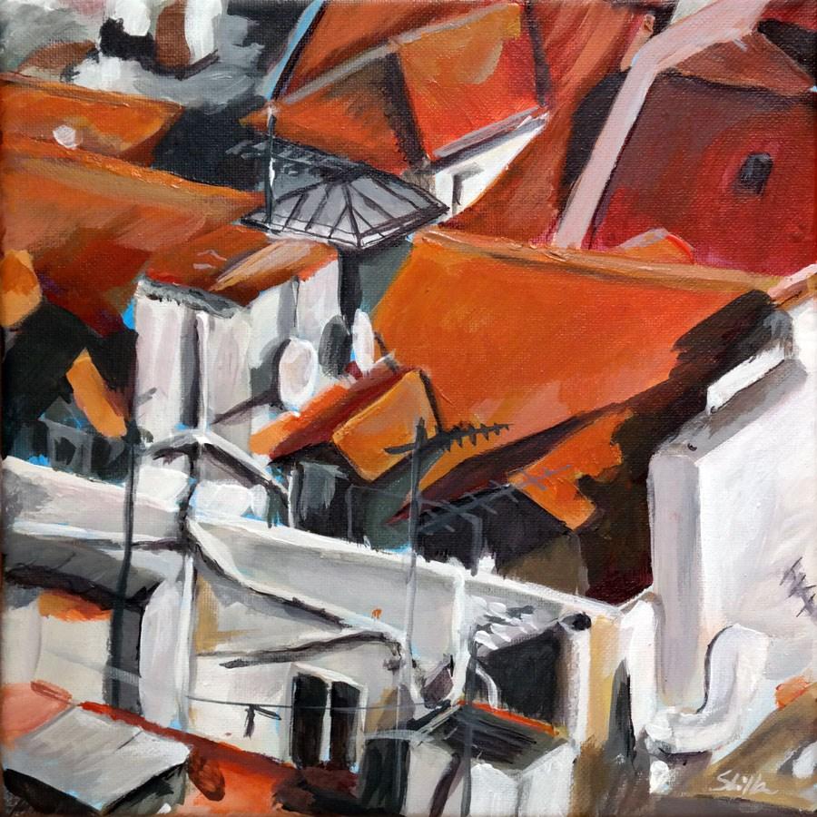"""""""1266 Roof World"""" original fine art by Dietmar Stiller"""