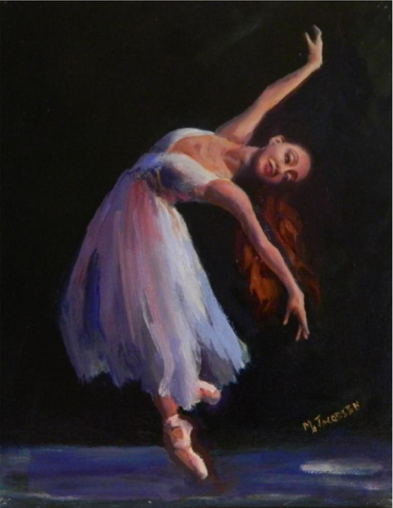 """Effortless, 8x10, oil on linen, paintings of dancers, ballet art, MAryanne JAcobsen art, original"" original fine art by Maryanne Jacobsen"