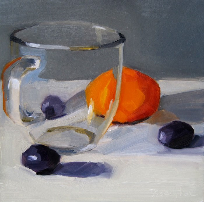 """Rhea's Clear Glass Mug"" original fine art by Robin Rosenthal"