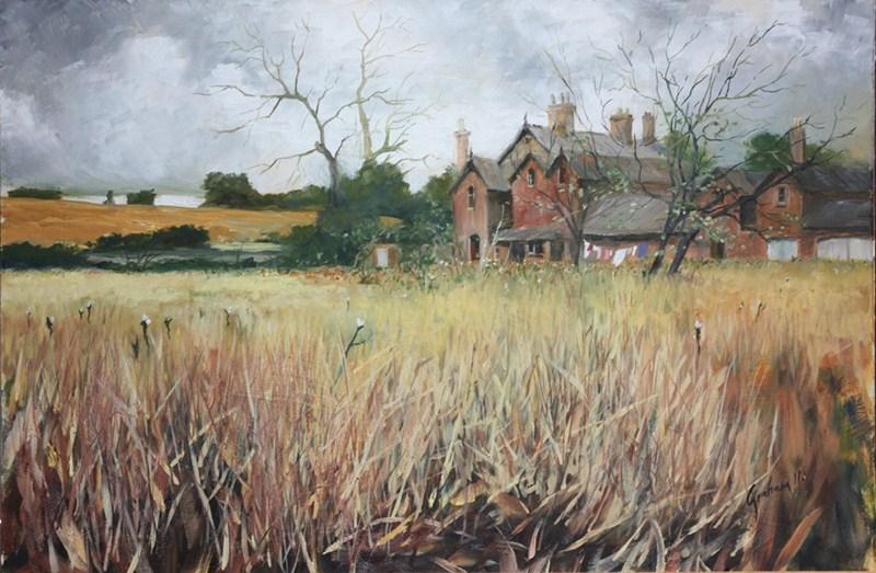 """Spindlestone Farm"" original fine art by Graham Townsend"