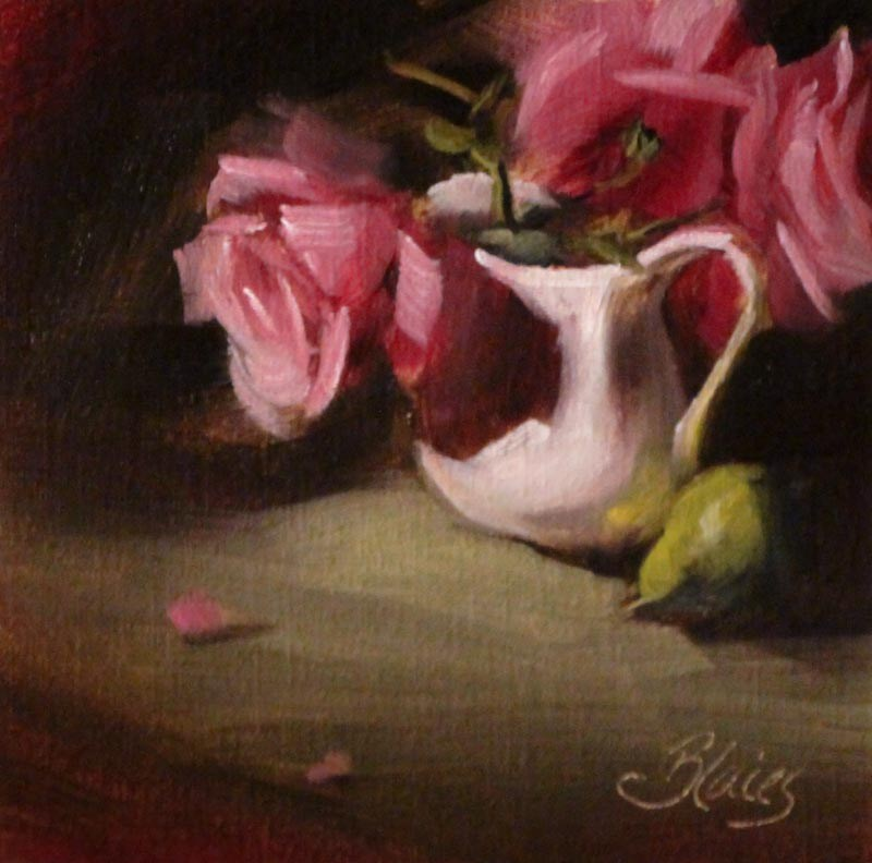 """""""Roses From the Garden"""" original fine art by Pamela Blaies"""