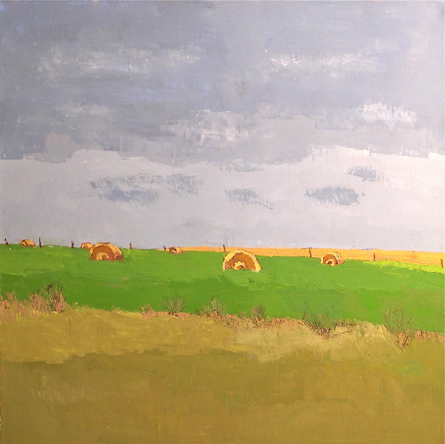"""""""Hay Bales"""" original fine art by Donna Walker"""