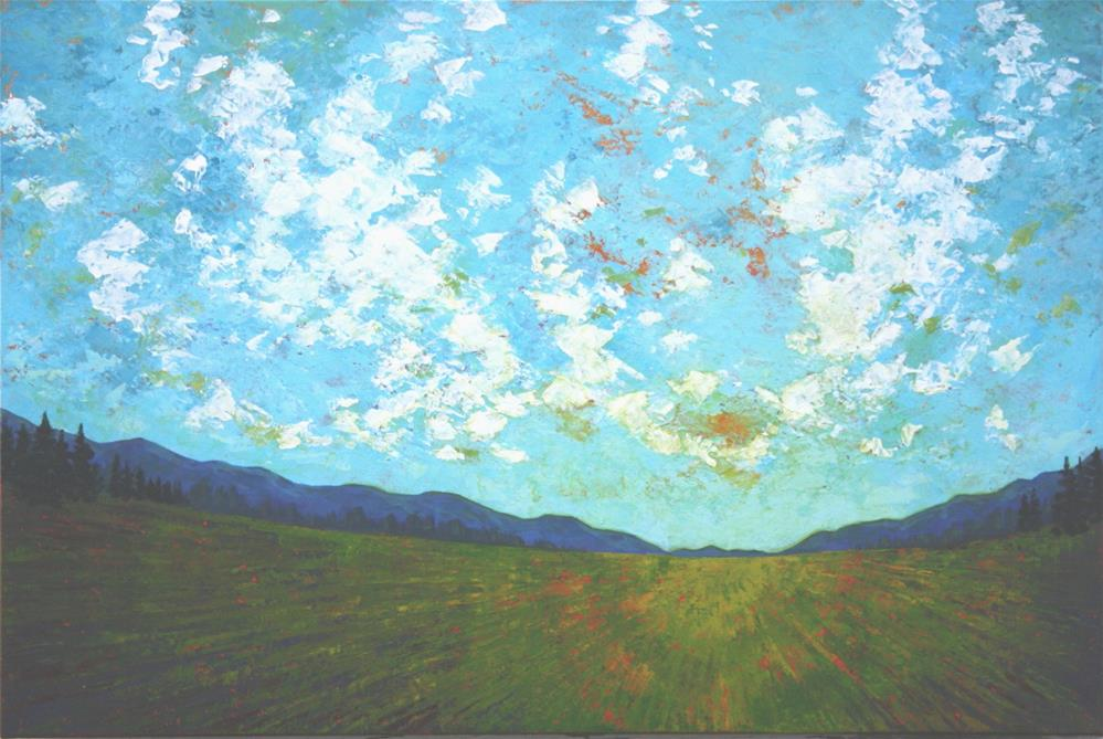 """Field of Green"" original fine art by Sage Mountain"