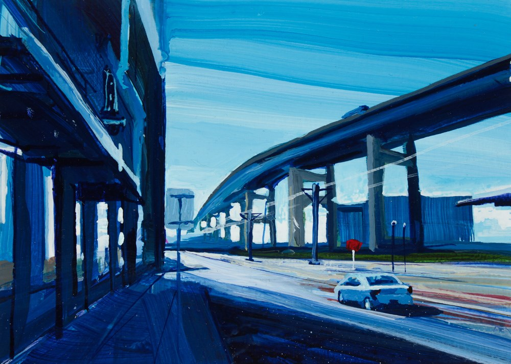 """View of the Skyway "" original fine art by Chris  Breier"
