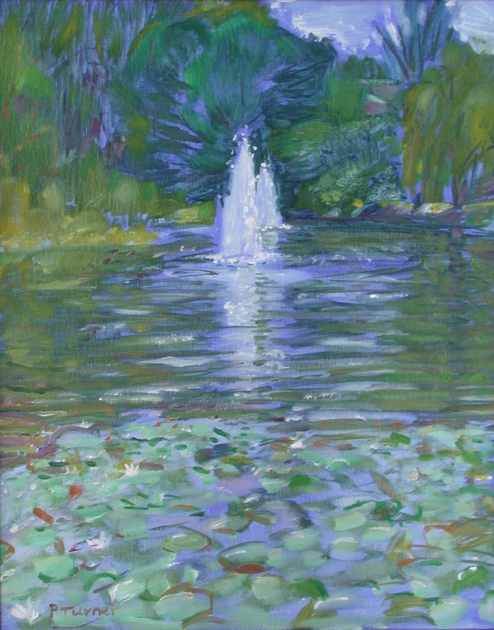 """Hidden Pond"" original fine art by Polly Turner"