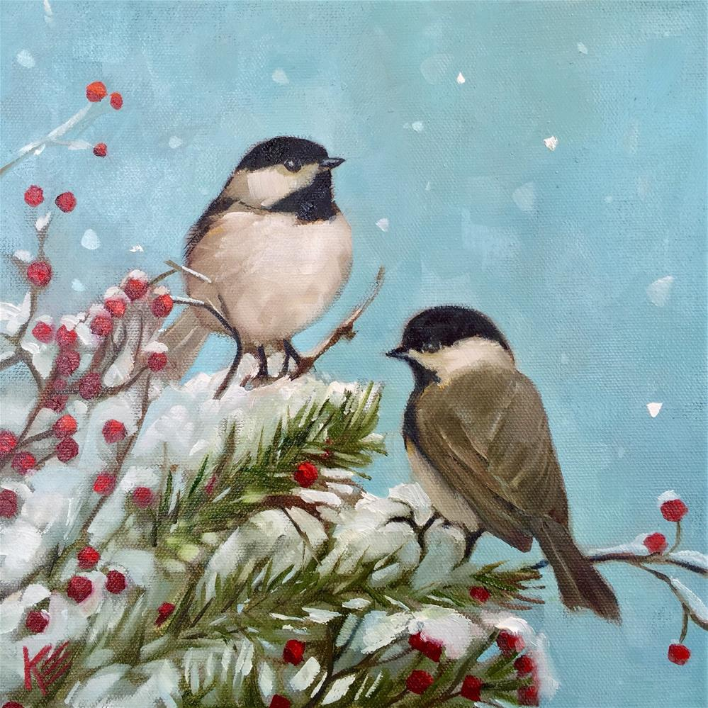 """Snow Day"" original fine art by Krista Eaton"