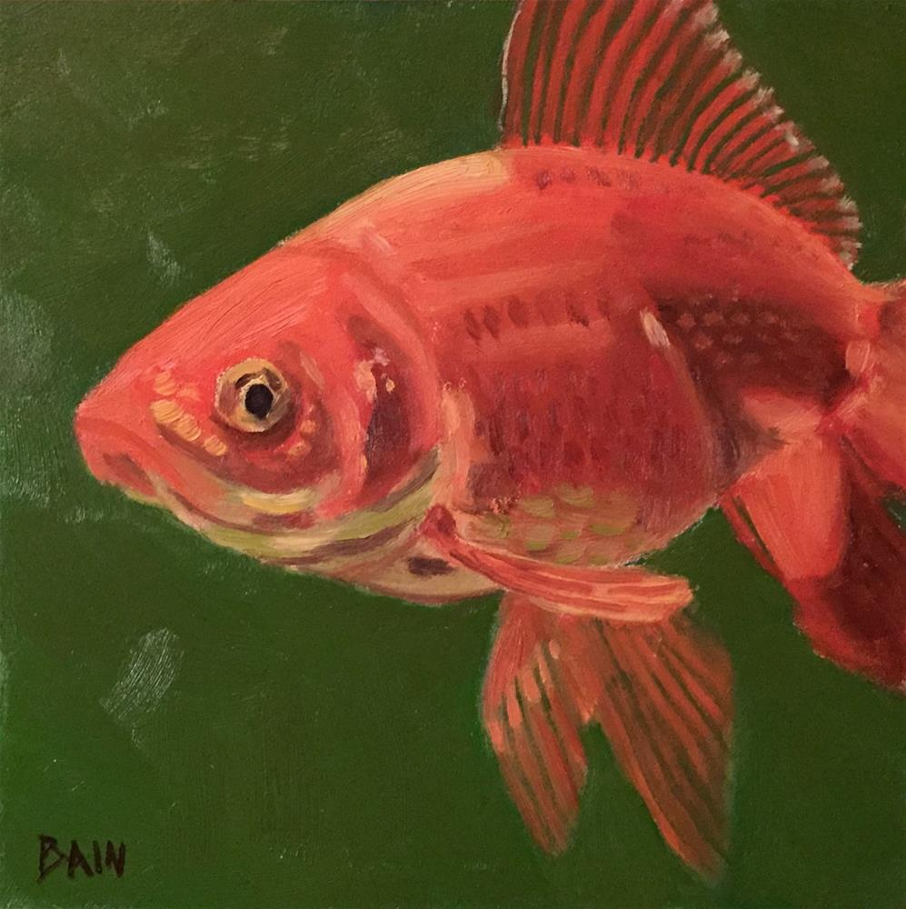 """Goldfish No. 3"" original fine art by Peter Bain"