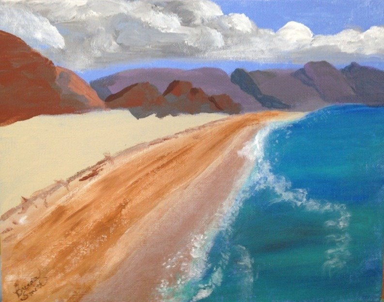 """Sunny Beach"" original fine art by Brenda Smith"