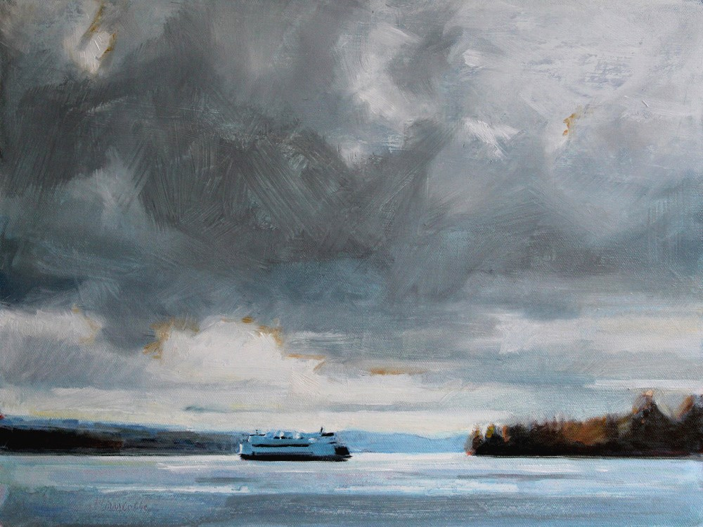"""Ferry from Southworth"" original fine art by Gretchen Hancock"