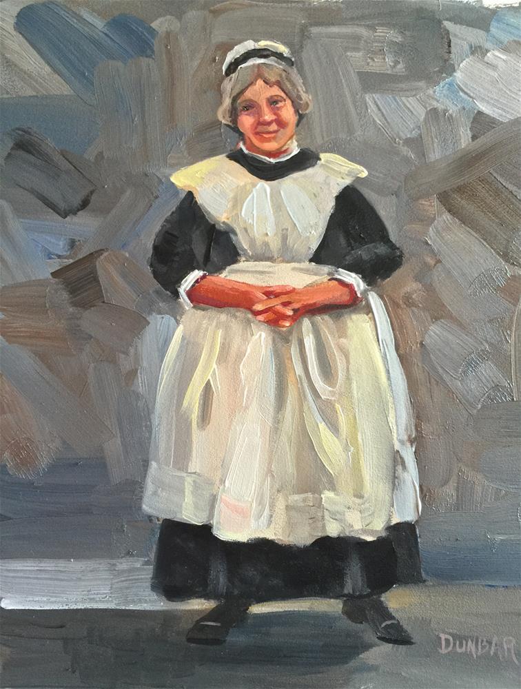 """The Maid"" original fine art by Linda Dunbar"
