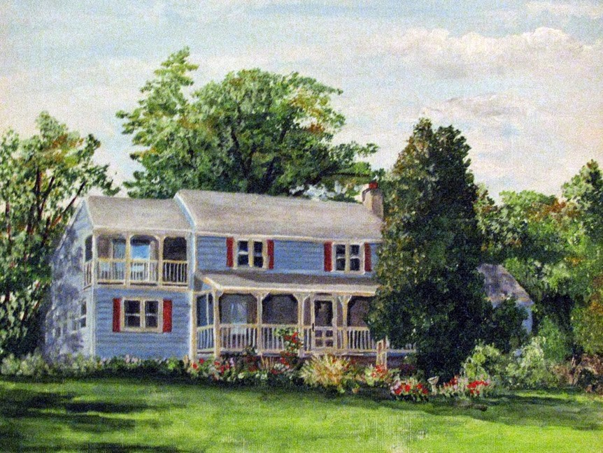 """Pennsylvanian Home"" original fine art by Nan Johnson"
