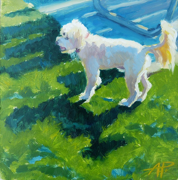 """Happy Tail"" original fine art by Anette Power"