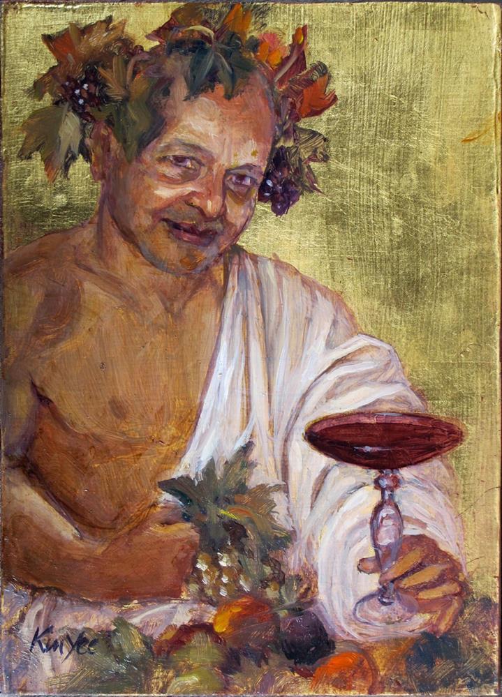 """Kumar as Bacchus"" original fine art by Myriam Kin-Yee"