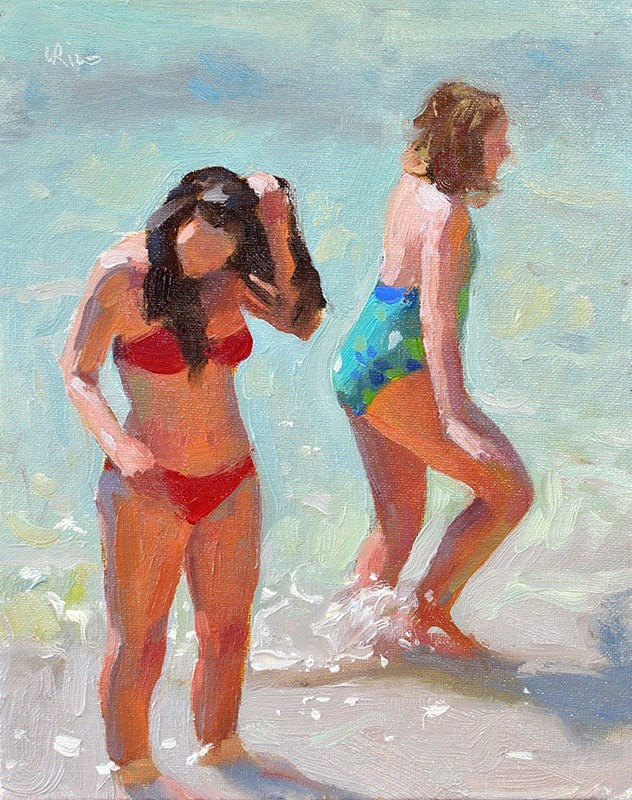 """Young Bathers"" original fine art by Lena  Rivo"