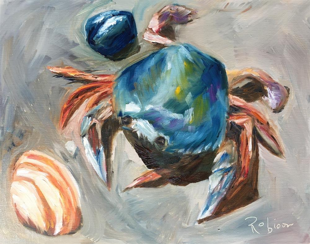 """Beach Crab"" original fine art by Renee Robison"