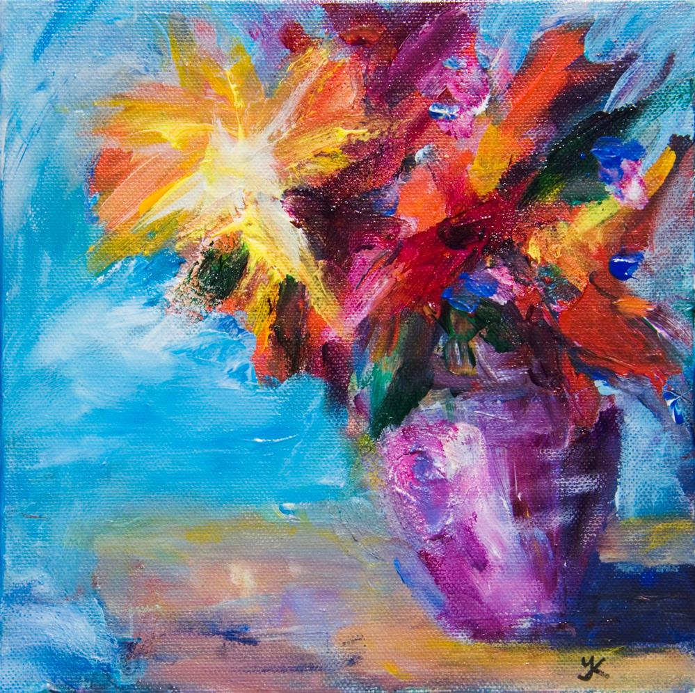 """Autumn Bouquet"" original fine art by Yulia Kazansky"