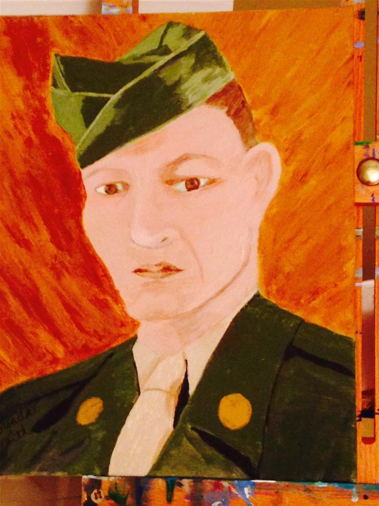 """Sgt. Staples"" original fine art by Brenda Smith"