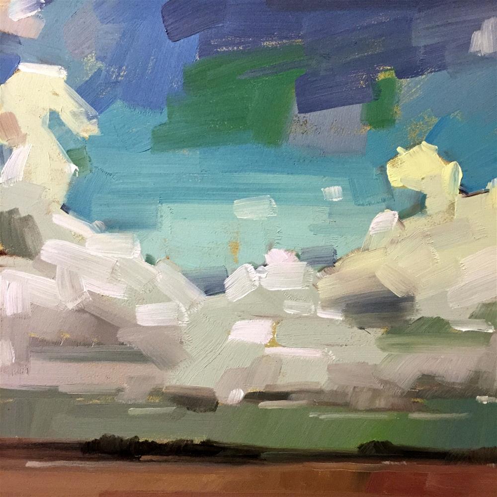 """Sky"" original fine art by Jiyoung Kim"
