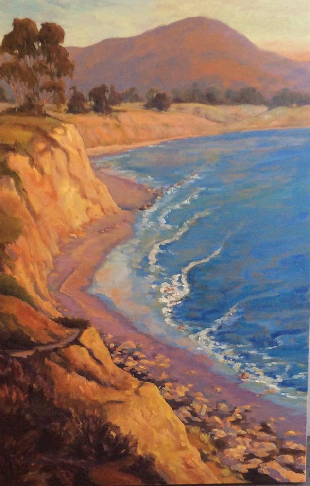 """""""Carpinteria coast"""" original fine art by Leigh Alexandra Sparks"""