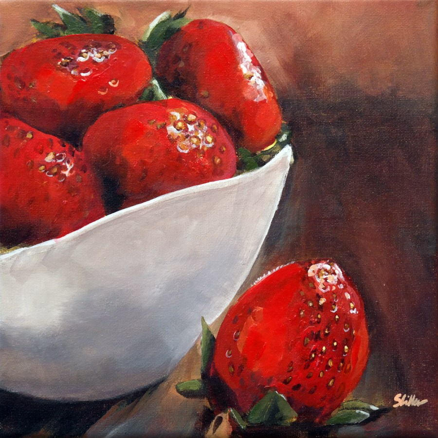 """1721 Strawberry Cup"" original fine art by Dietmar Stiller"