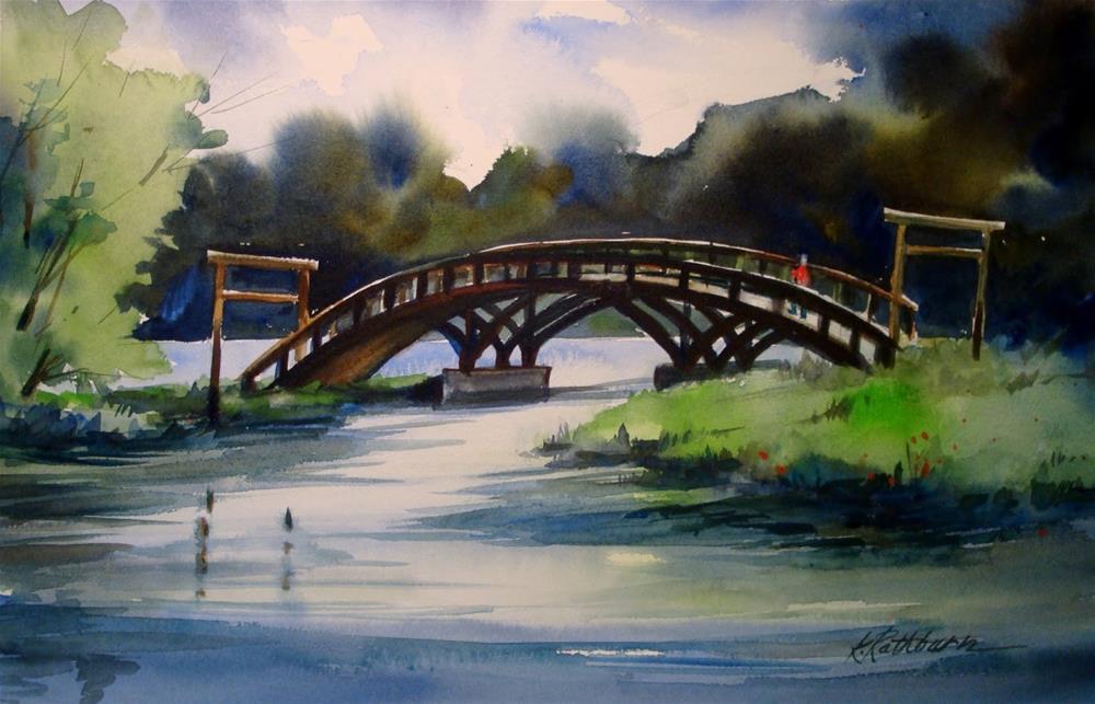 """Miller Beach Bridge in Summer"" original fine art by Kathy Los-Rathburn"