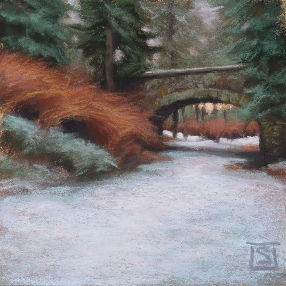 """Winter Under the Bridge"" original fine art by Sheila Evans"