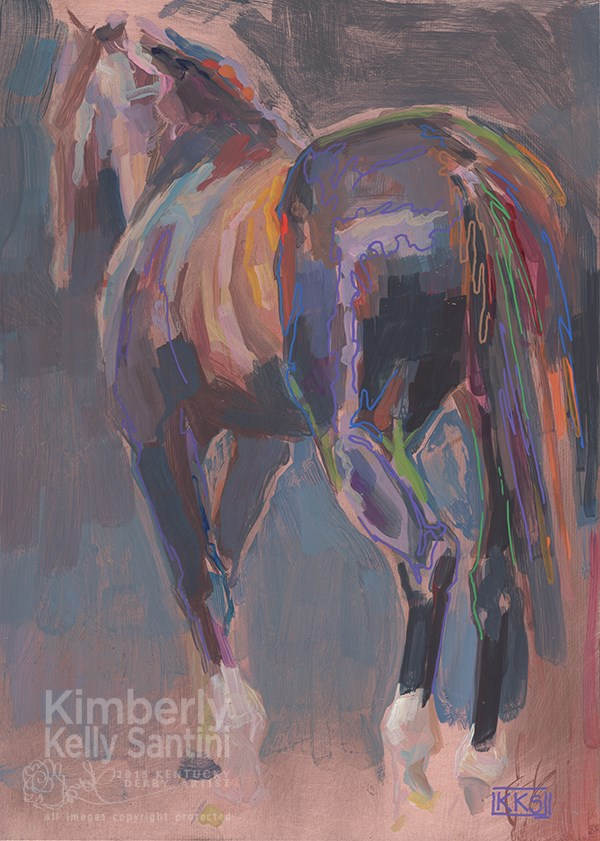 """Tiznow, a painting on copper"" original fine art by Kimberly Santini"