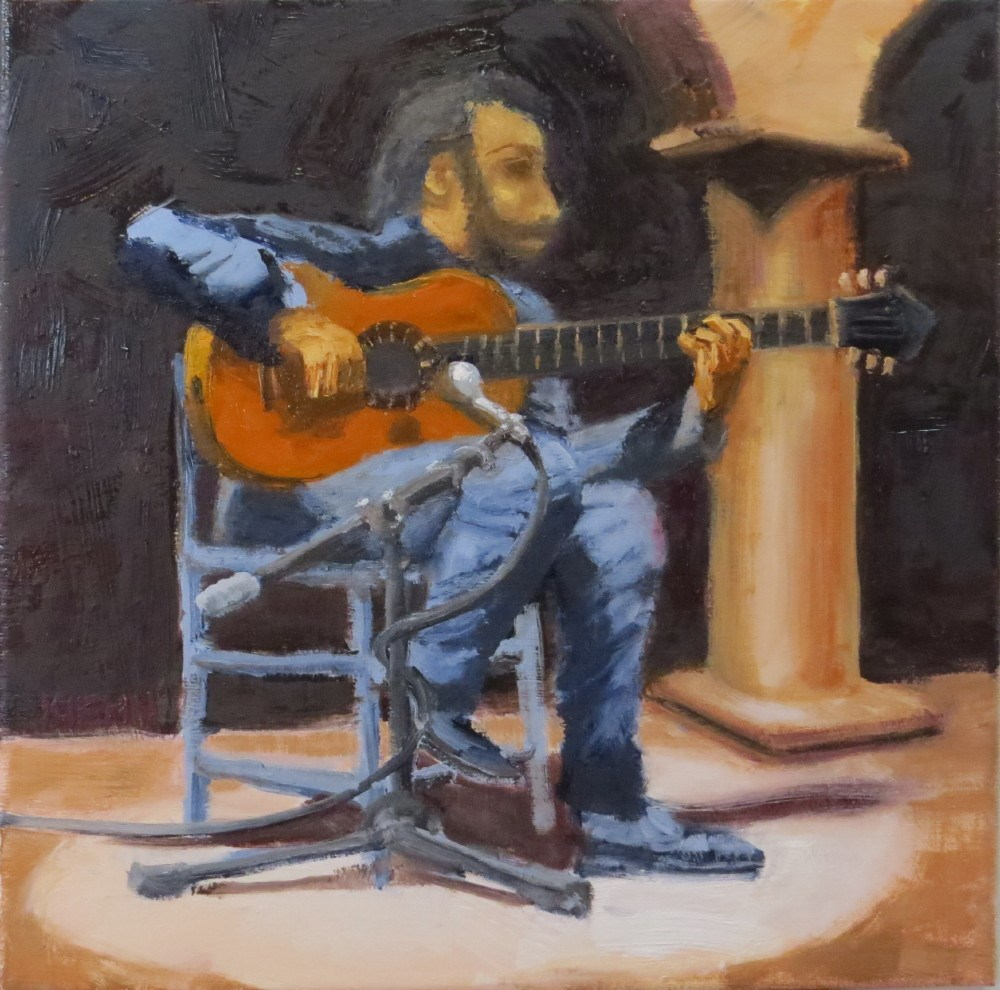 """Flamenco Guitarist"" original fine art by Richard Kiehn"