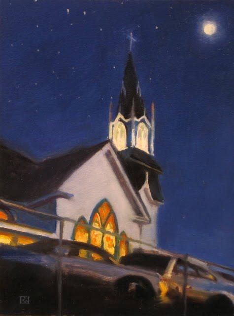 """""""Christmas Eve"""" original fine art by Robin Weiss"""