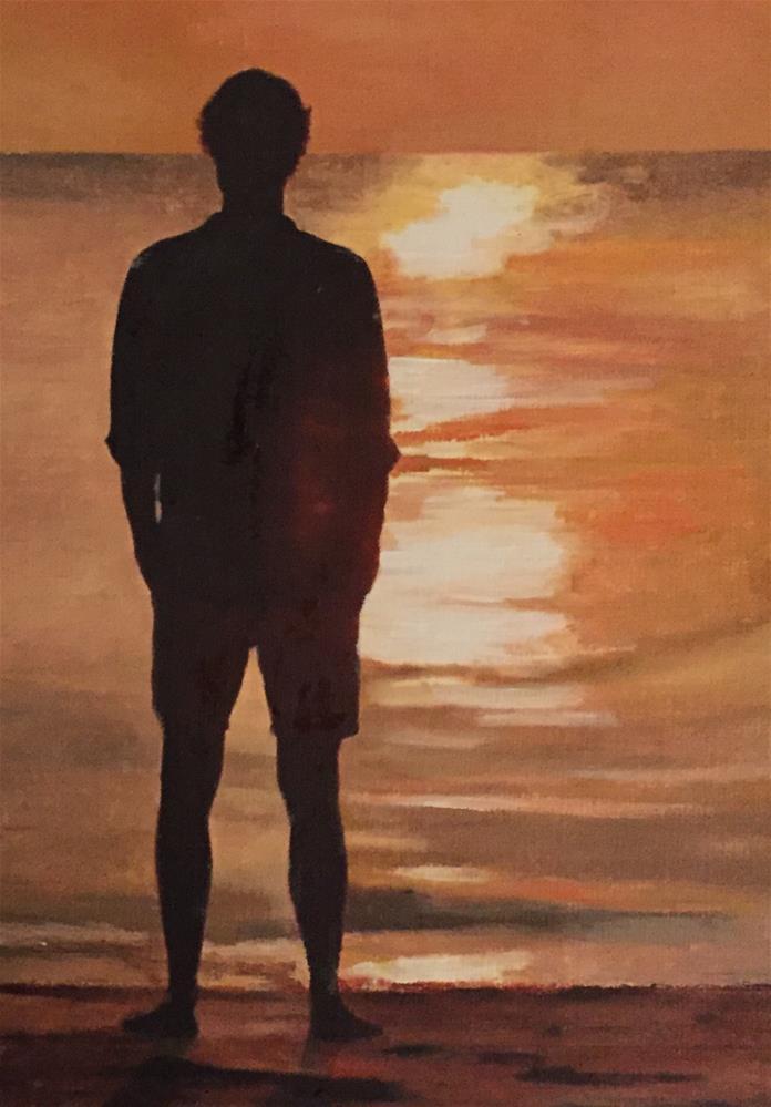 """Contemplation"" original fine art by John Cameron"