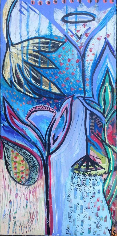 """Garden Shower"" original fine art by Nicole Saunders"
