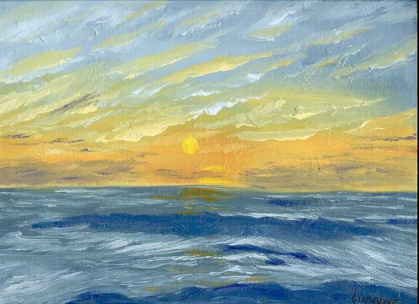 """Day 11 - 9x 12 Oil for Saeta's Challenge"" original fine art by Sue Furrow"
